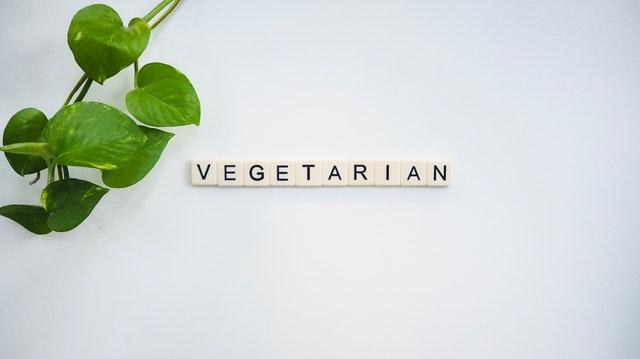 Nápis vegetarián
