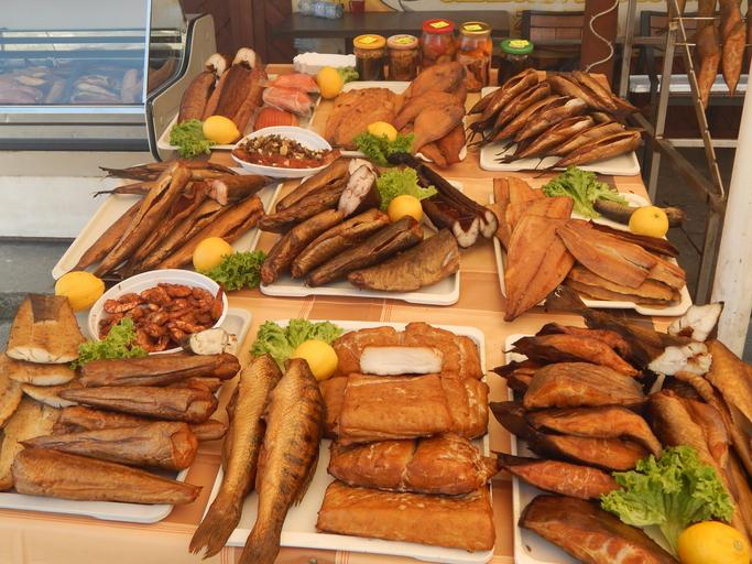 rybí obchod a bohatá nabídka