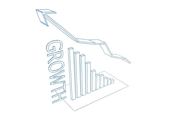 graf naznačující strmý růst