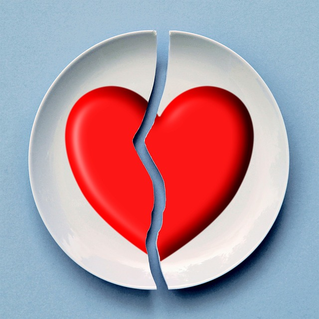 nedorozumění – rozpůlené srdce